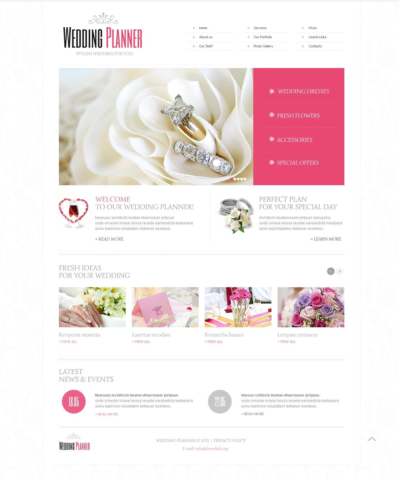 16+ Best Wedding Planner Website Templates