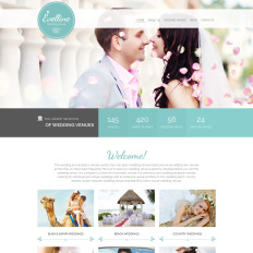 Wedding Venues Responsive Website Template #44755