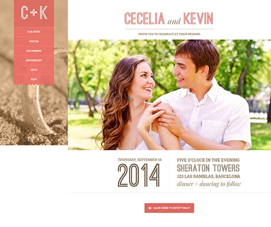 wedding website templates 70 best wedding website templates free