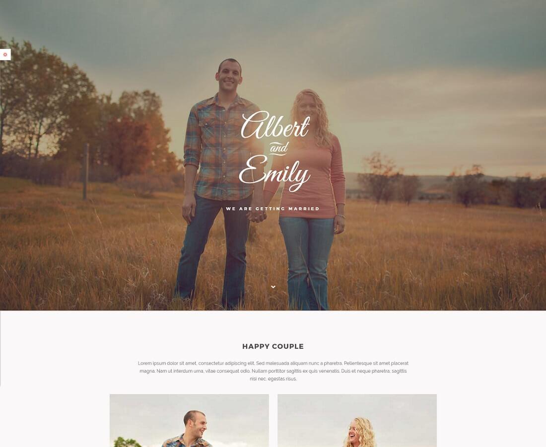 19 Beautiful HTML Wedding Website Templates 2018 Colorlib
