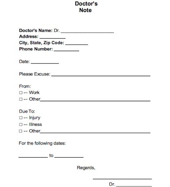 What Does A Doctor Note Look Like | beneficialholdings.info