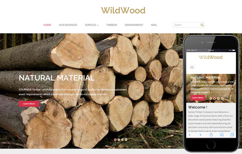 Wood Working Website Template | Free Website Templates
