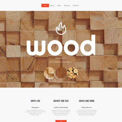 Carpenter Website Template | WIX