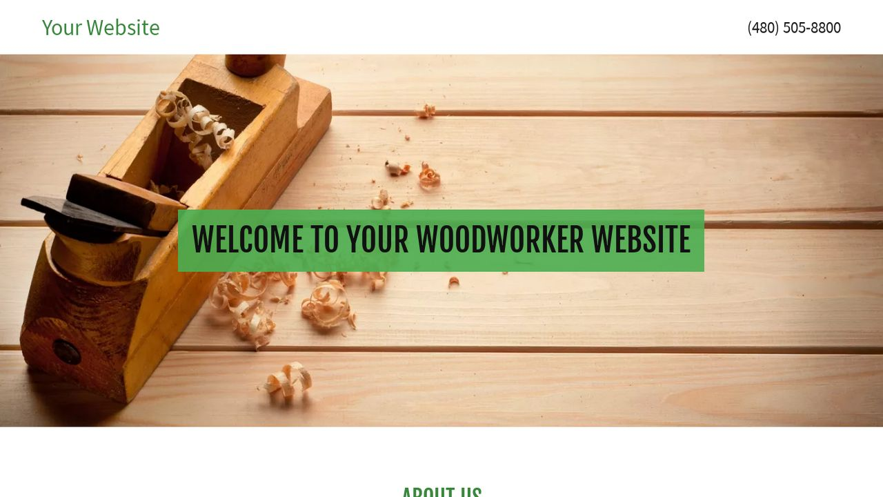 Woodworking Free website templates in css, html, js format for