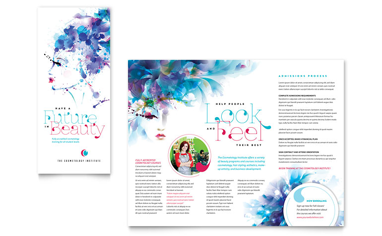 Network Administration Tri Fold Brochure Template Word & Publisher