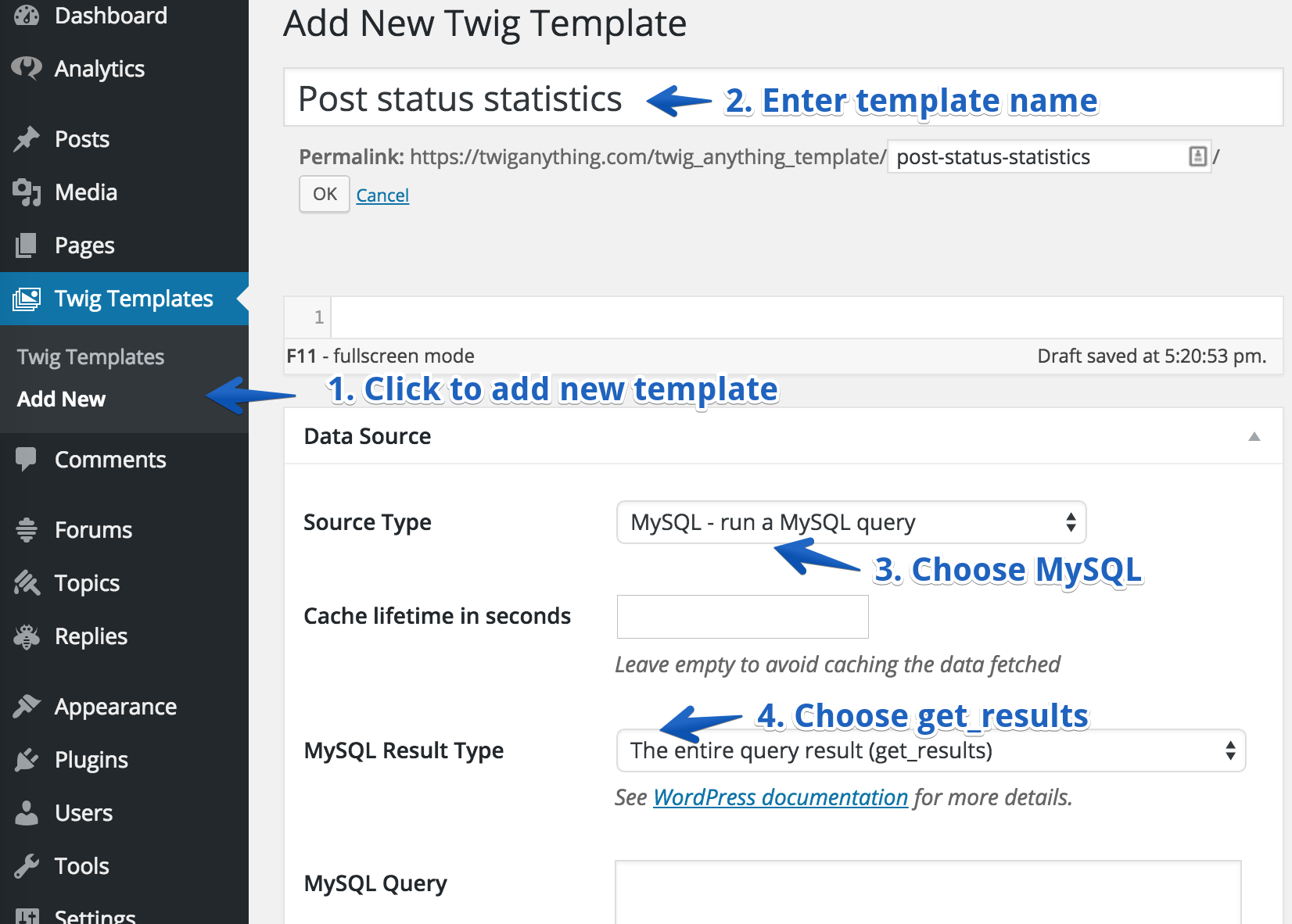 Get name of the current template file WordPress Development