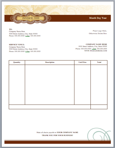 Artist Invoice Template | Free Invoice Templates