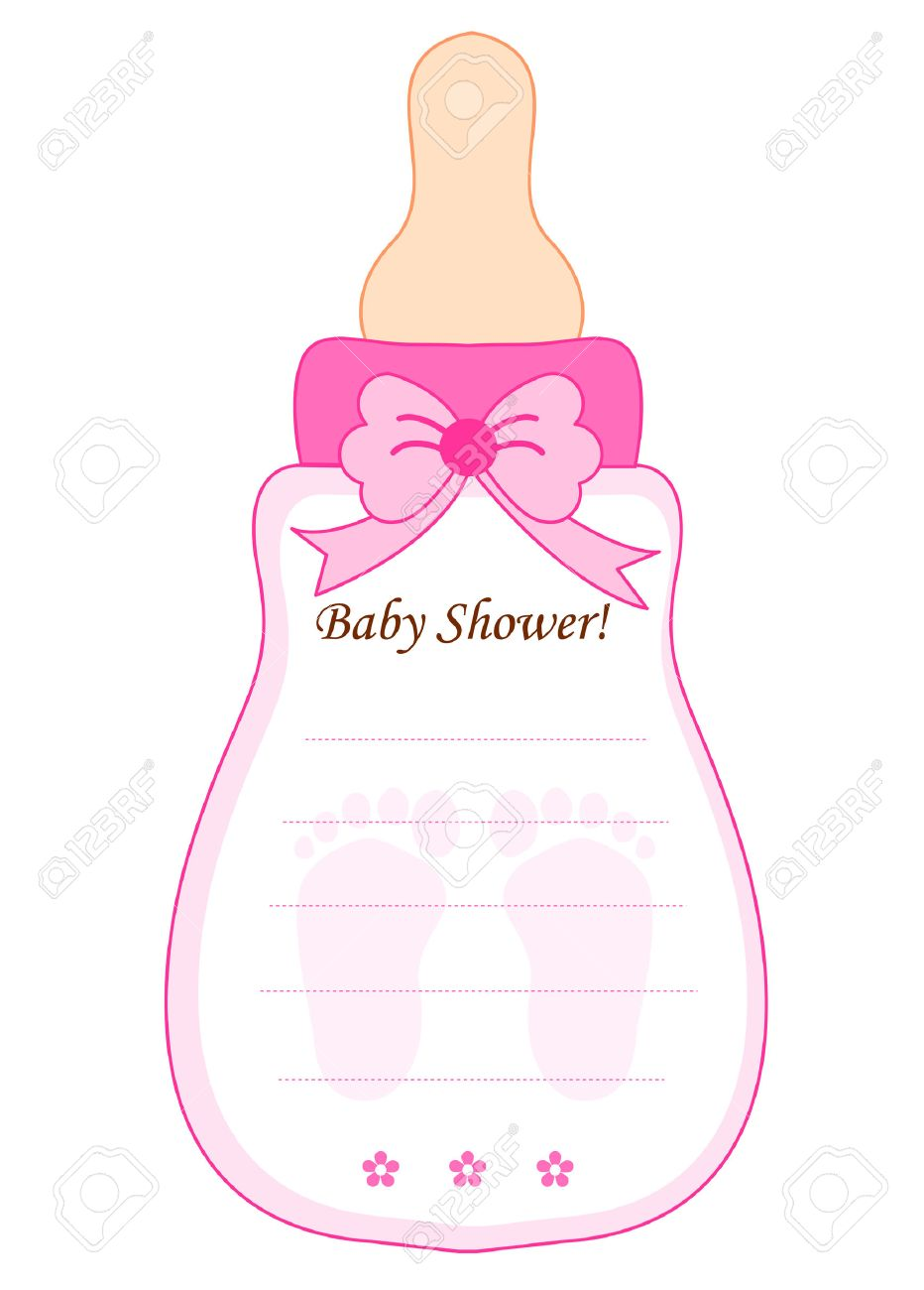 Baby Bottle Template | Babyshower ideas | Baby, Baby cards, Baby