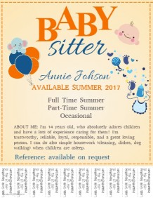 Customize 200+ Babysitting Flyer Templates | PosterMyWall