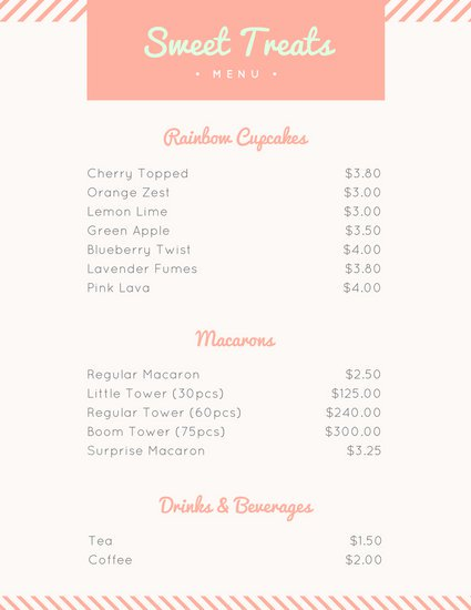 Customize 38+ Bakery Menu templates online Canva