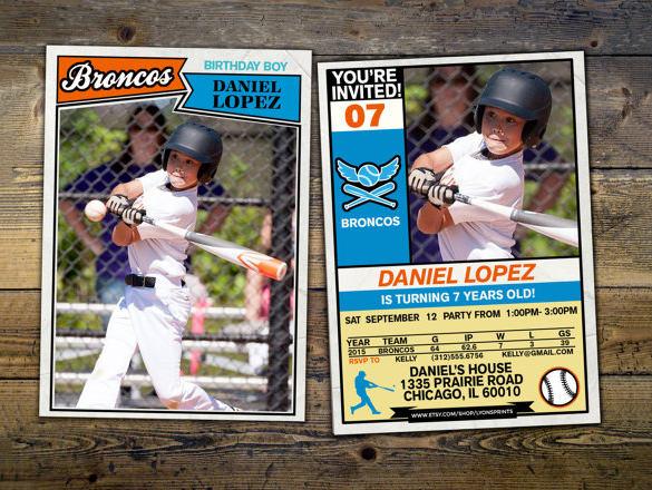 Baseball Card Powerpoint Template Baseball Card Photoshop Template