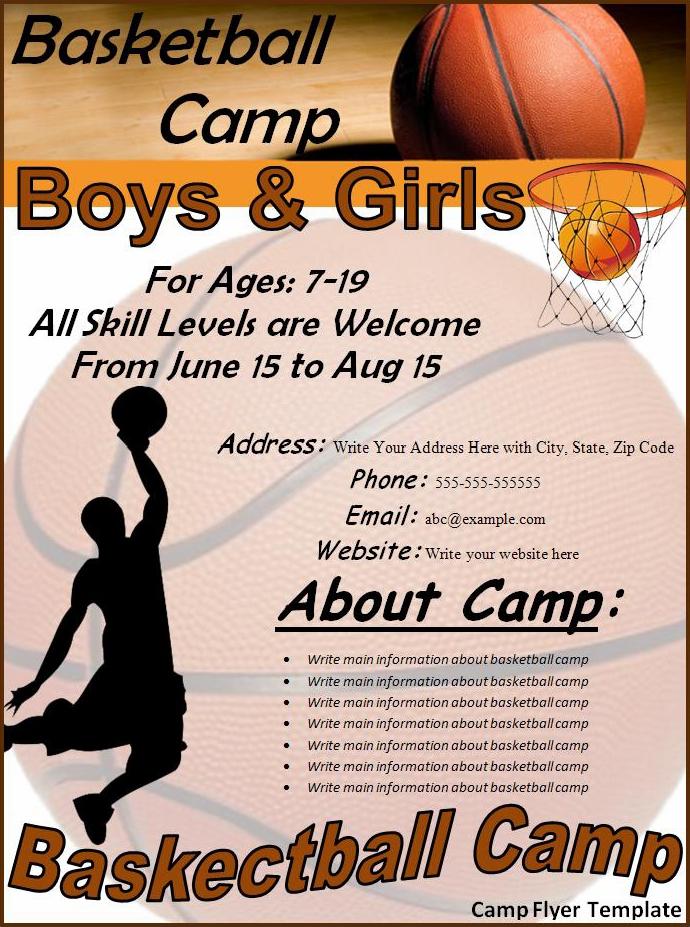 basketball camp brochure template basketball camp brochure