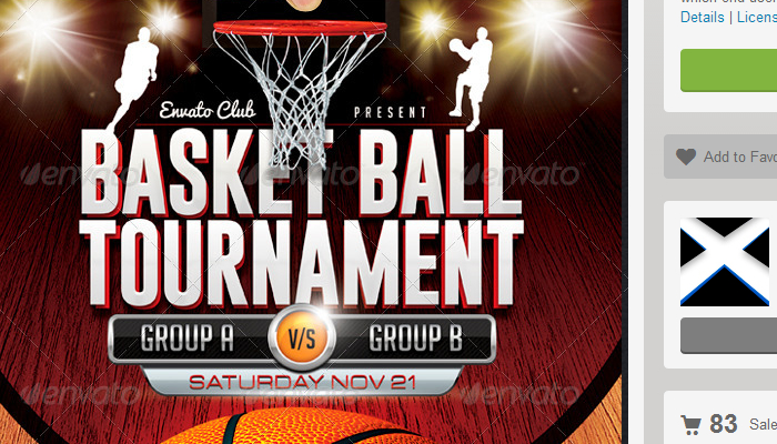 Basketball Tournament Flyer Template Basketball Tournament Flyer