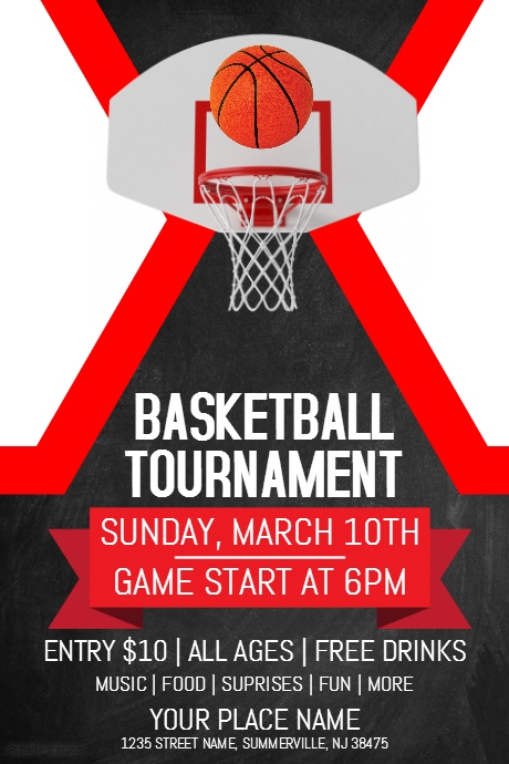 Basketball Tournament Flyer Template | PosterMyWall