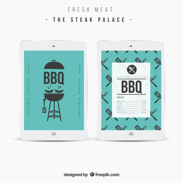 Bbq menu template Vector | Free Download