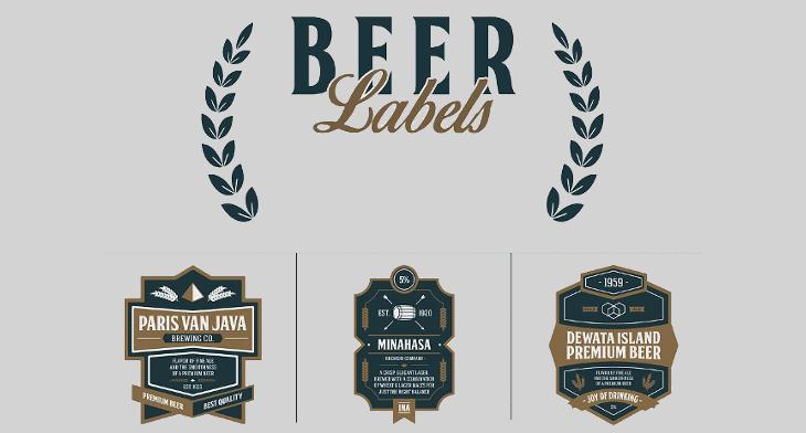 20+ Beer Labels PSD, EPS, AI, Illustrator | Design Trends