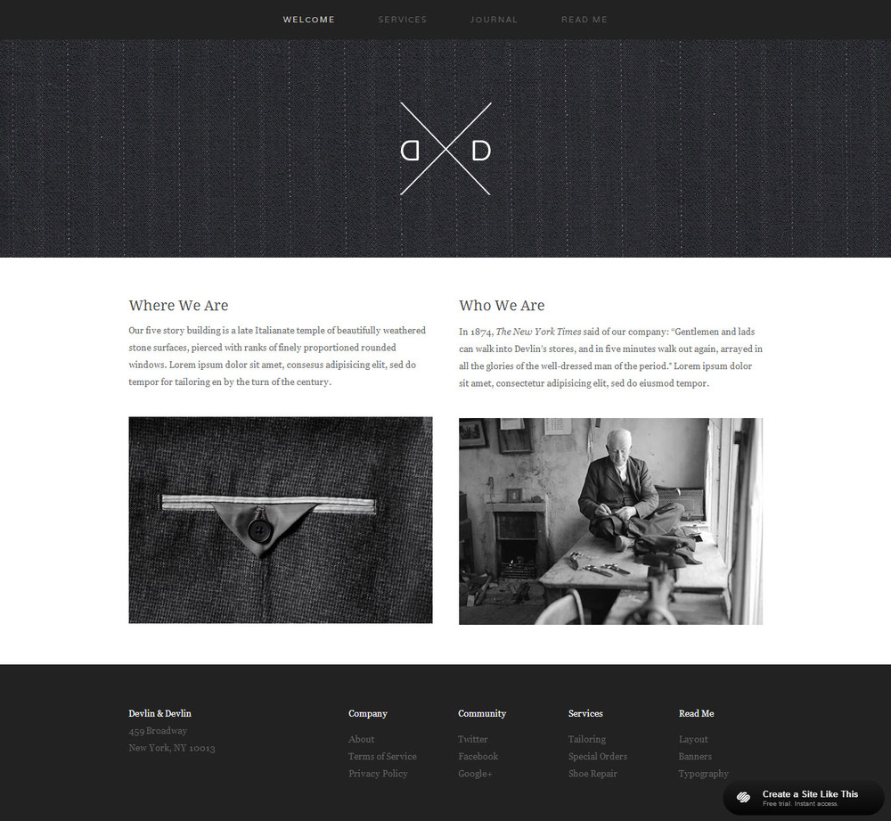 Best Squarespace Template For Video Website With Photo Gallery