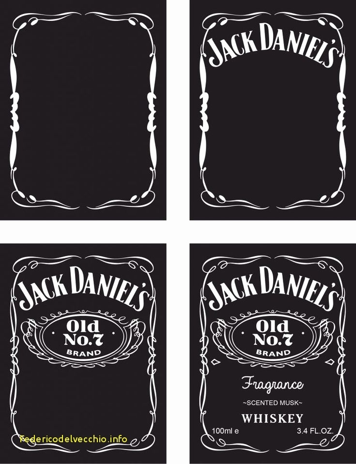 Blank Jack Daniels Label Template Wcc usa.org
