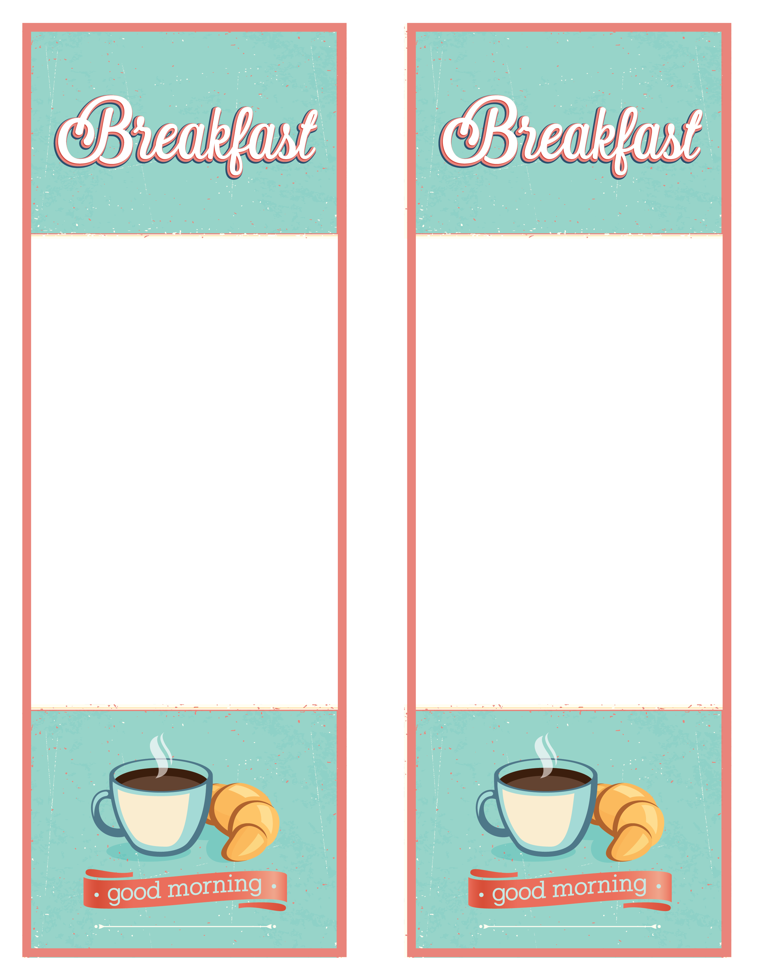 Consort Display Group | podia template breakfast menu