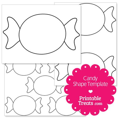printable candy shape template | christmas party | Pinterest