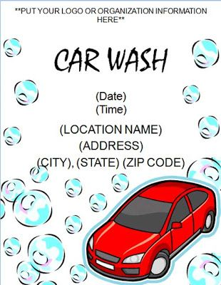 Microsoft Word Templates: Sample Car Wash Flyer Template