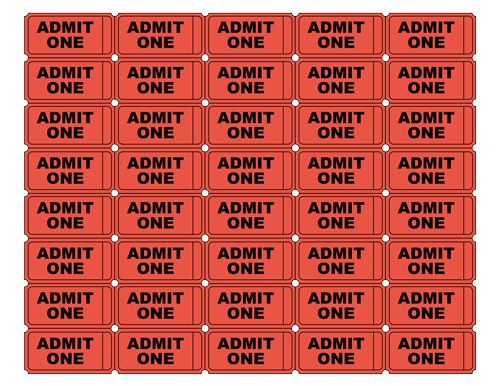 Free Printable Admission Tickets | The same printable admit one