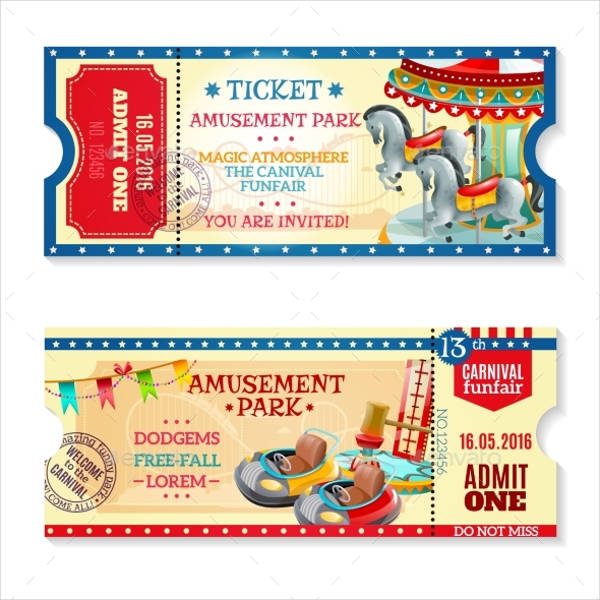 12+ Carnival Ticket Templates Free PSD, AI, Vector EPS Format
