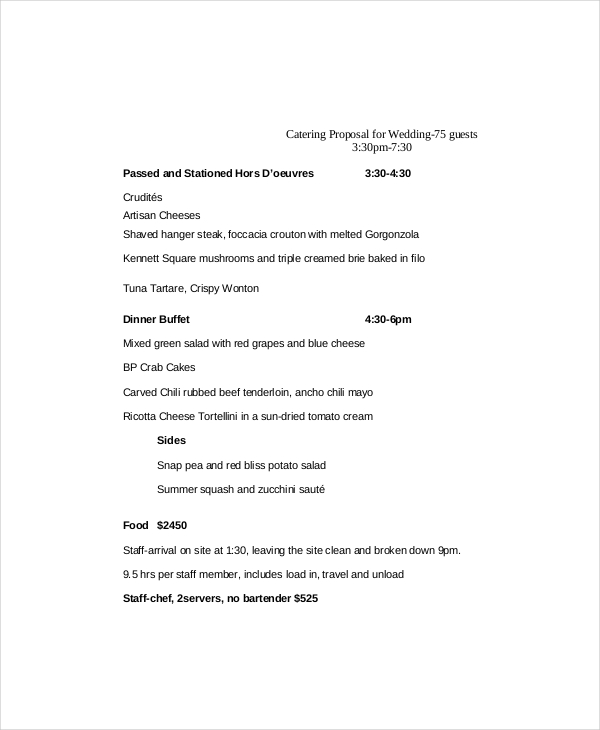 menu proposal template catering proposal template 9 free word pdf