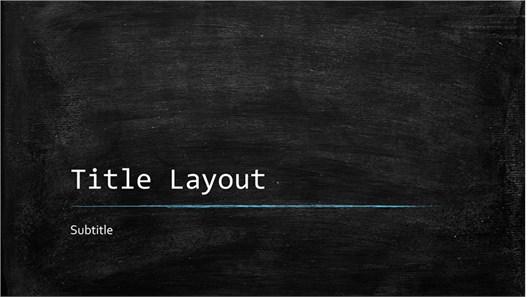 Free Blackboard PowerPoint Template