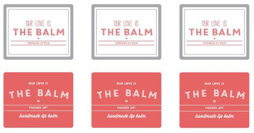 Lip Balm Slide Top Labels Templates in MS Word and PDF | Home made