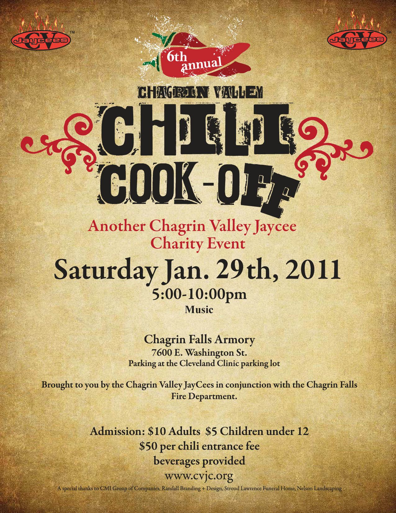 Chili Cook Off Flyer Template Free Printable WOW. Image