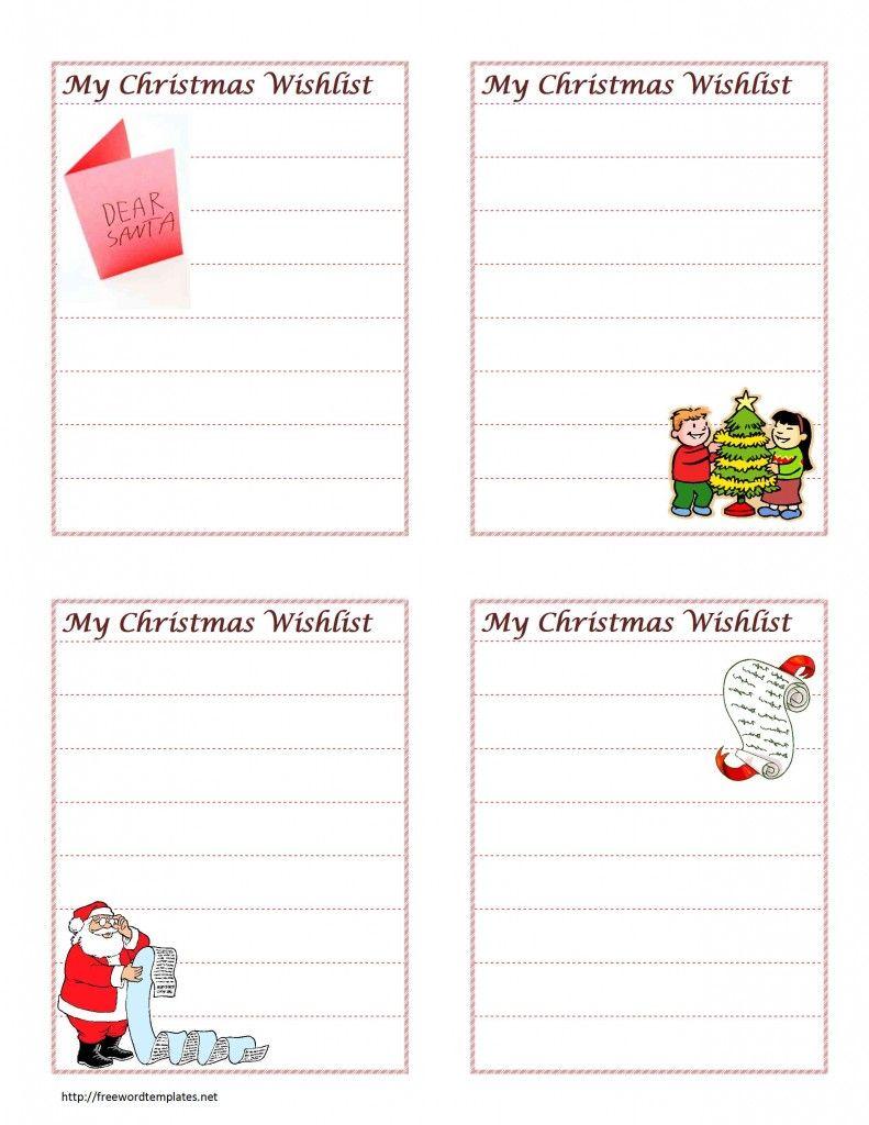 Christmas Wish List Template for MS Word | Christmas Decor & More