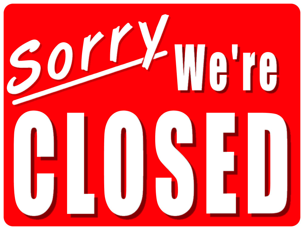 closed door sign closed within office closed sign template Legal