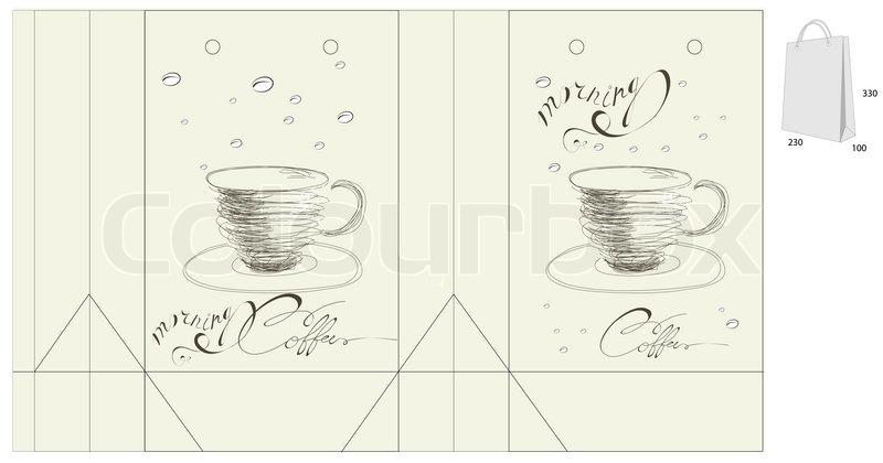 paper coffee bag template Google Search | Jiffy | Pinterest
