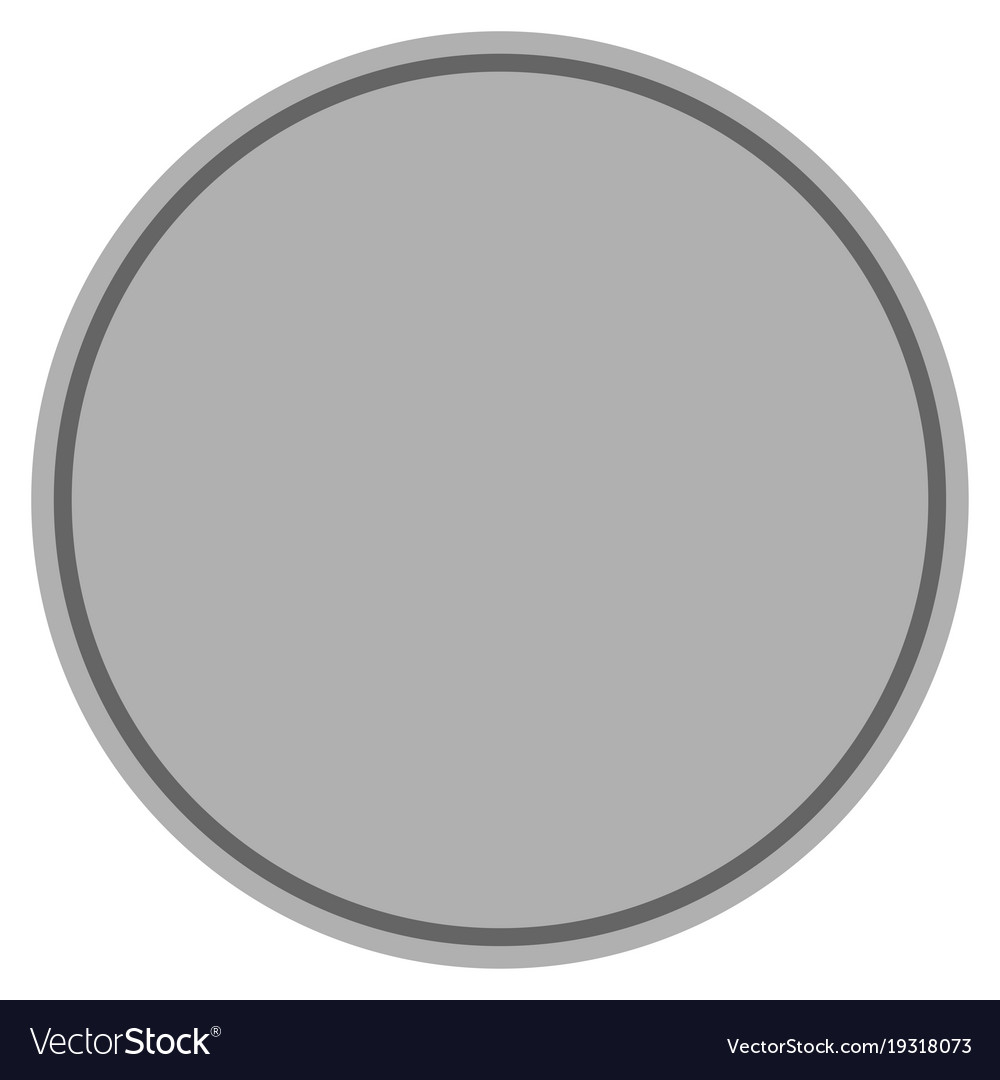 Round template silver coin Royalty Free Vector Image