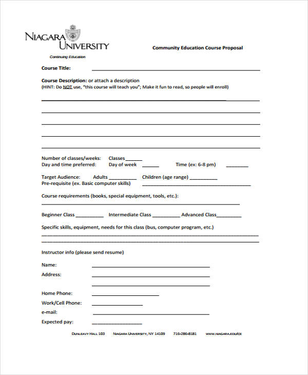 course proposal template Narco.penantly.co