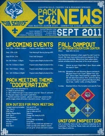 boy scout newsletter template cub scout newsletter template