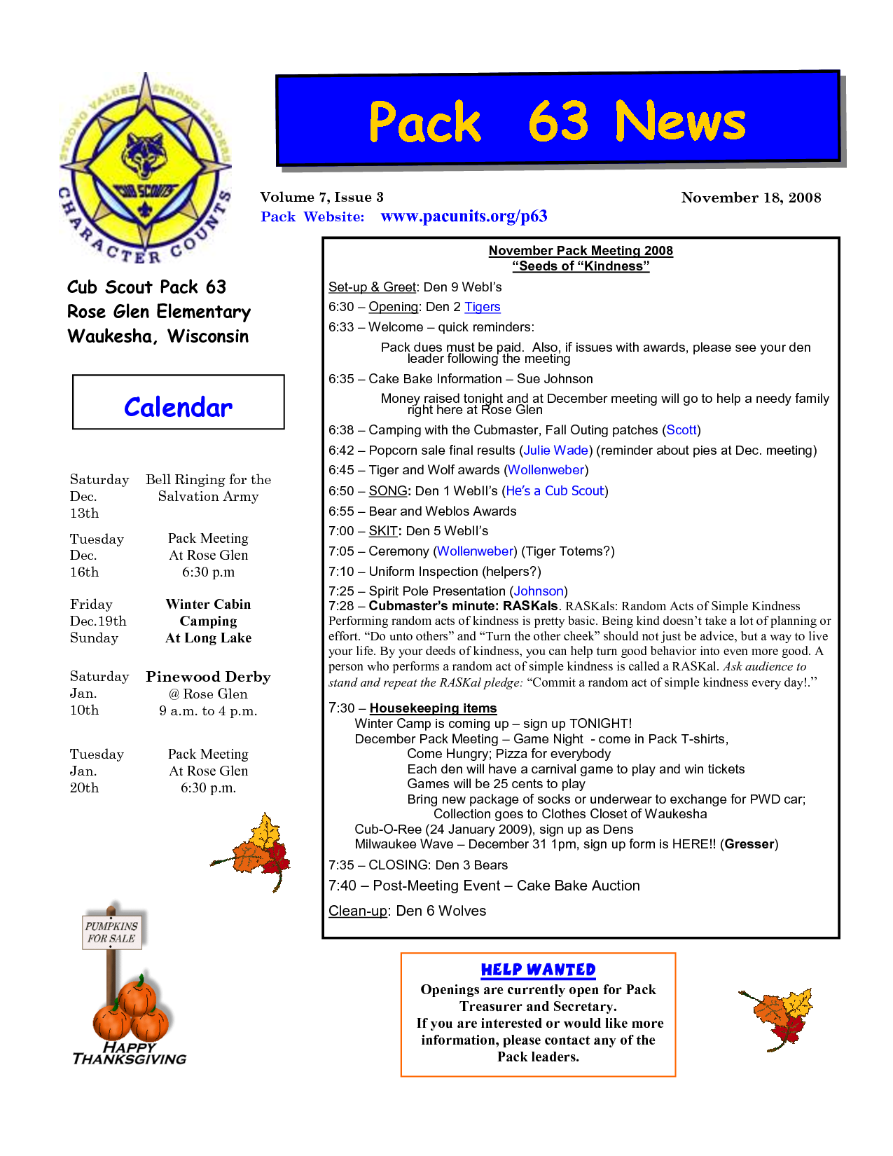 cub scout newsletter template Google Search   Scouts   Pinterest