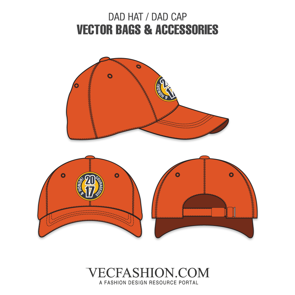 Dad Hat or Dad Cap Template VecFashion