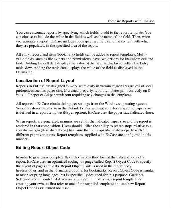 digital forensic report template microsoft word 7 sample forensic