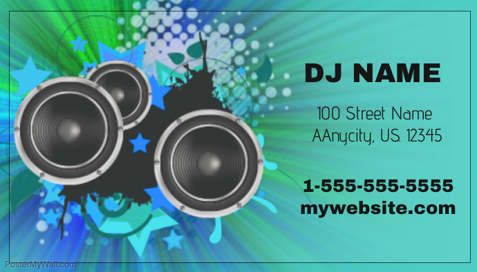 DJ Business Card Template | PosterMyWall