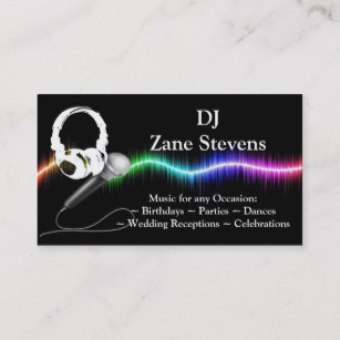 DJ Business Cards, 1400+ DJ Business Card Templates