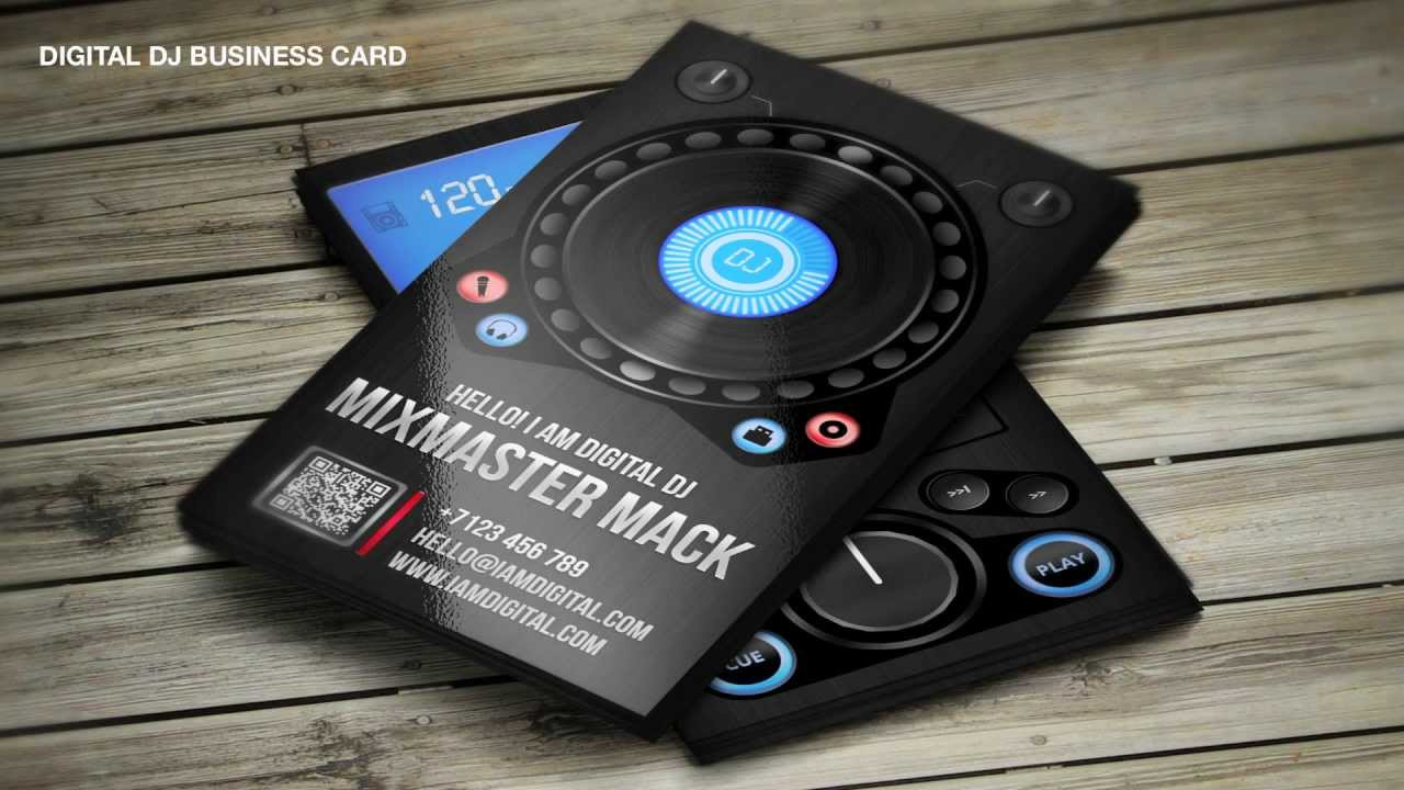 Design4DJ DJ Business Cards Templates YouTube