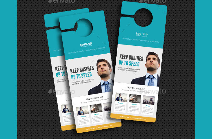 Blank door hanger template for your design, print and cutout