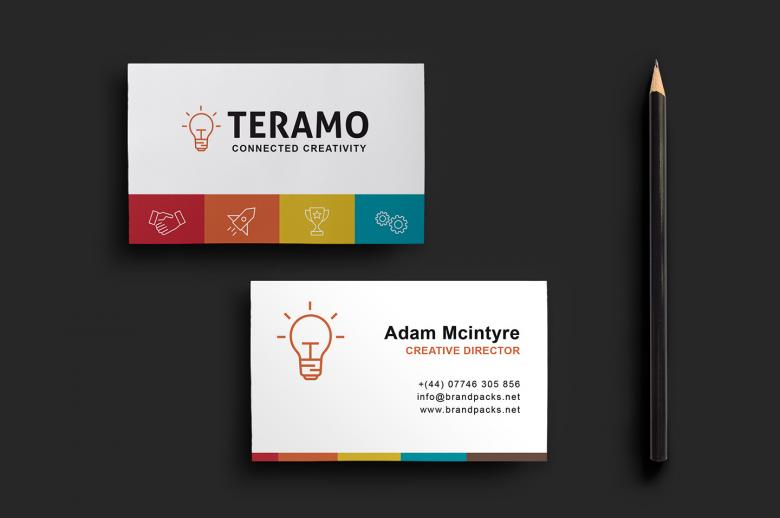 Clean and Professional Double Sided Business Card Template | The