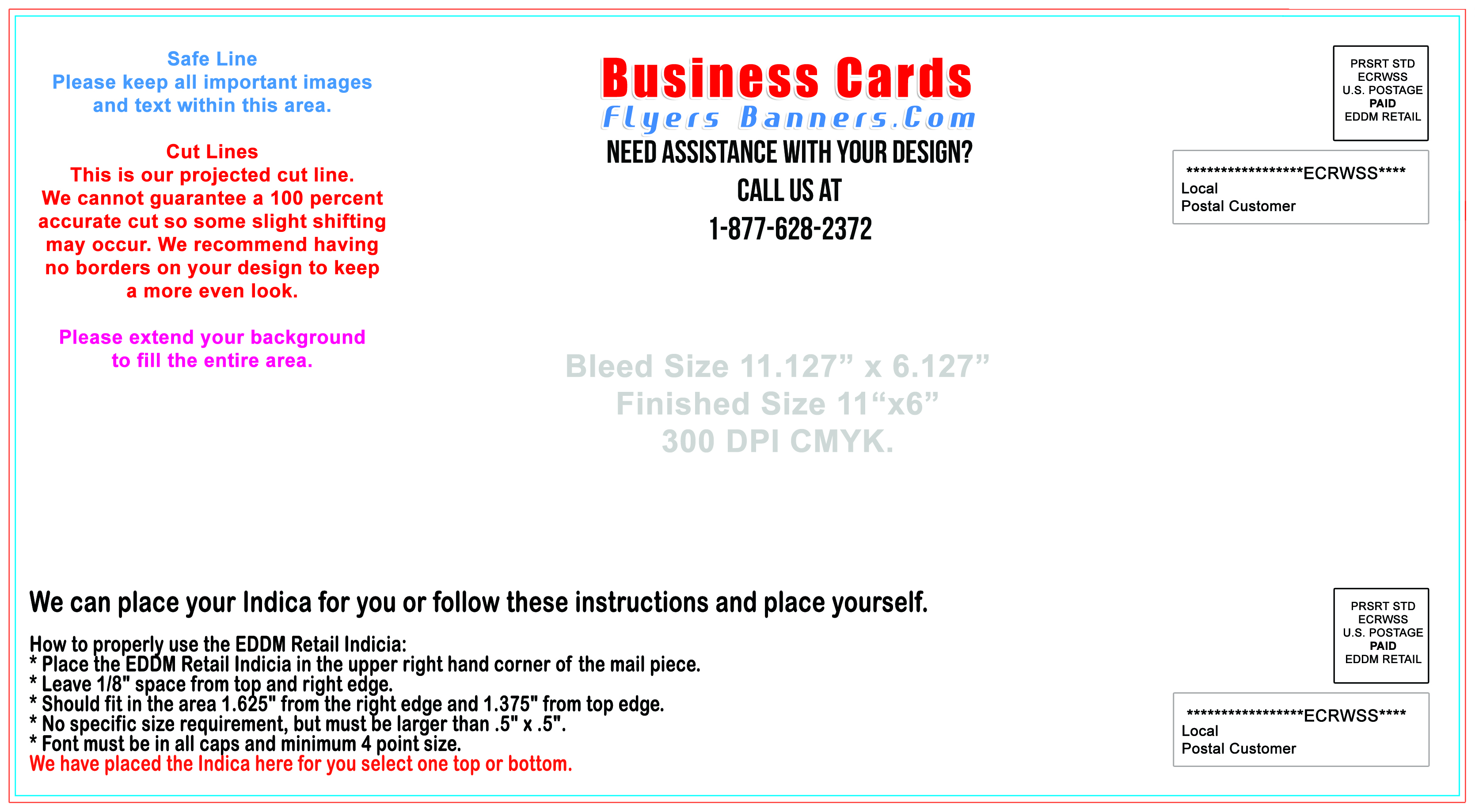 EDDM postcard Templates Free Shipping and Low Prices
