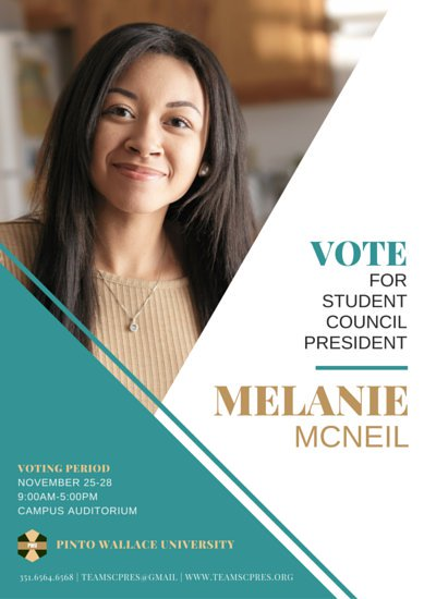 Student Council Election Poster Templates by Canva