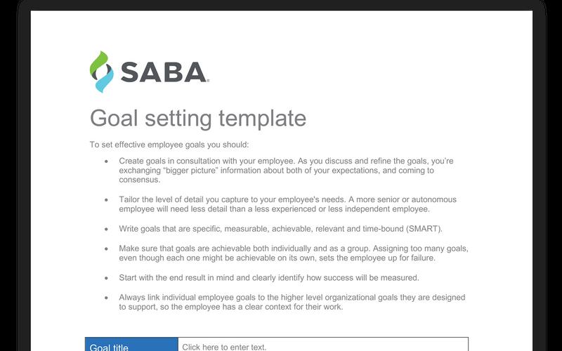 Employee Goal Setting Template Employee Goals Template Pla