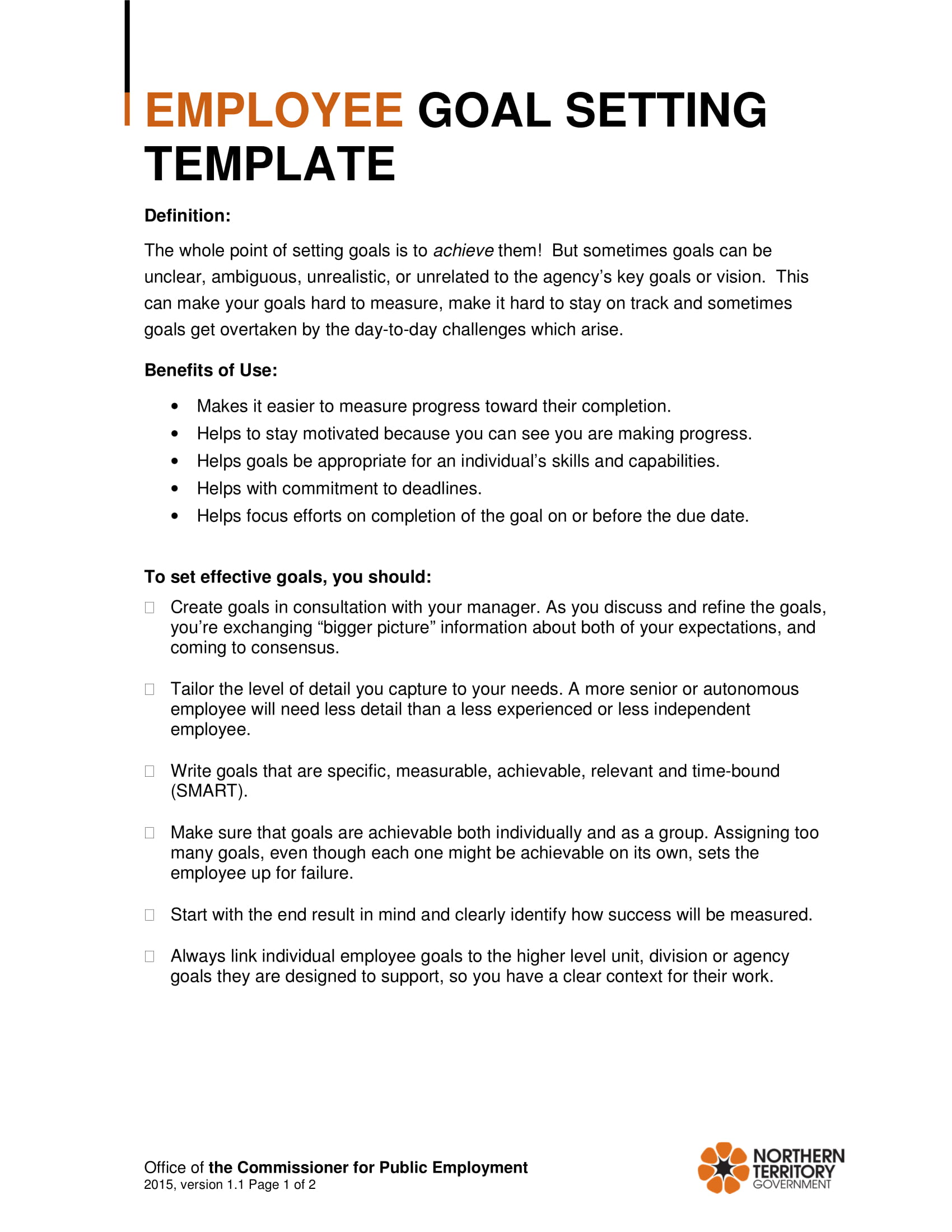 9+ Employee Goal Setting Examples PDF