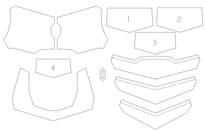 foam armor templates Google Search | EVA foam | Pinterest | Foam
